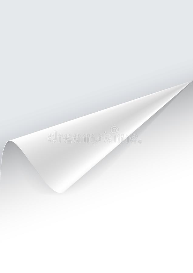 Papierplakat mit einer eingewickelten oben Ecke vektor abbildung