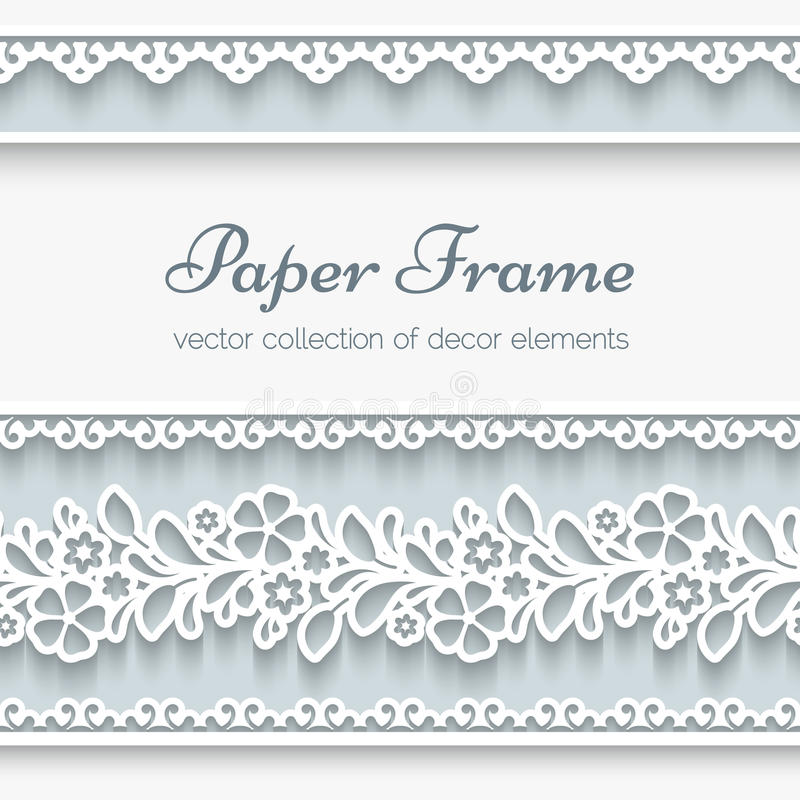 Papierrahmen Mit Dekorativen Grenzen Vektor Abbildung - Illustration ...