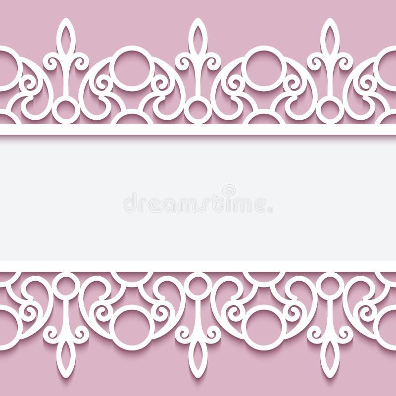 Papierrahmen Mit Spitzensäumen Vektor Abbildung - Illustration von ...