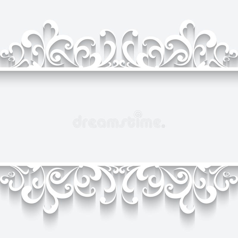 Papierrahmen Mit Swirly Grenzverzierung Vektor Abbildung ...
