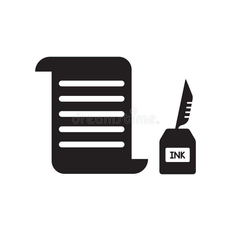 Papierrollenikone  lizenzfreie abbildung