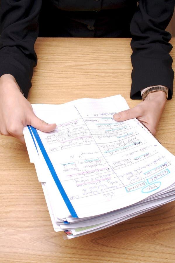 Papiers 3 de bureau photo libre de droits