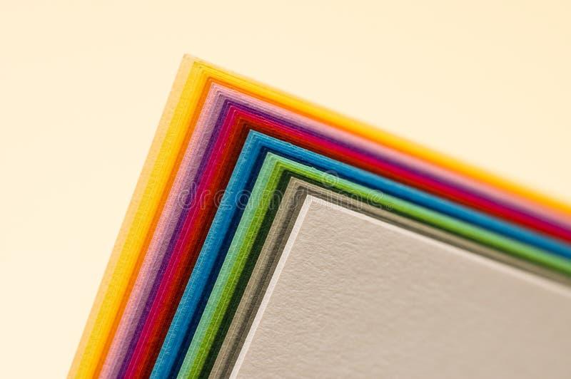 Papiers colorés photo libre de droits