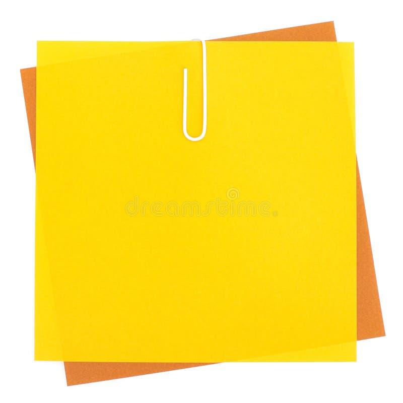 Papiers colorés avec l'agrafe images libres de droits