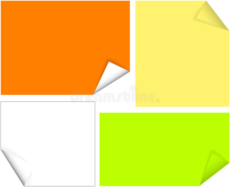 papiers colorés petits illustration de vecteur