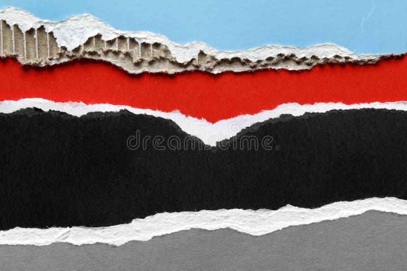 Papiers déchirés image libre de droits