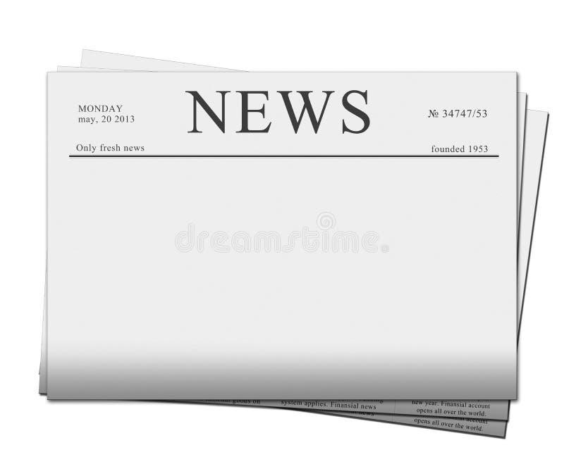 Papiers d'actualités illustration libre de droits