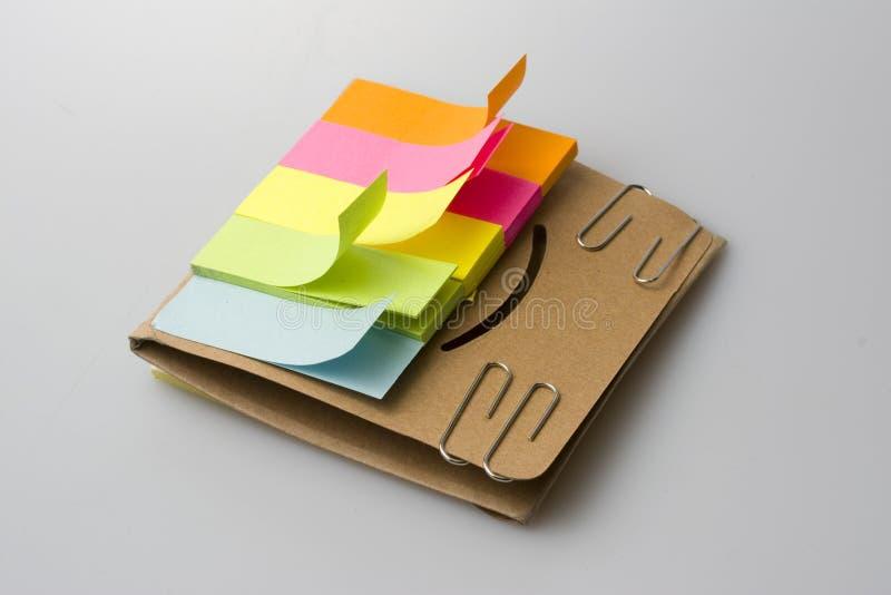 Papiers d'inscription de couleur photographie stock libre de droits