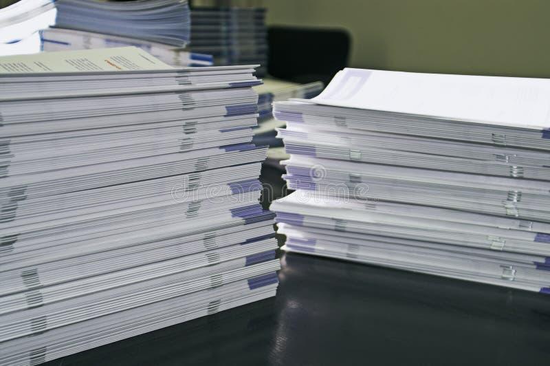 Papiers de communiqué photos libres de droits