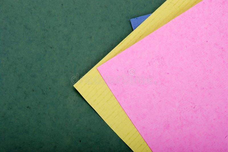 papiers de couleur photos stock