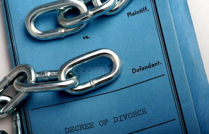 Papiers de divorce images stock