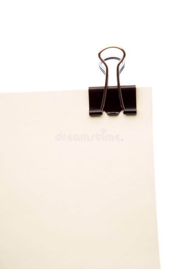 papiers de papier de fixation de clip image libre de droits