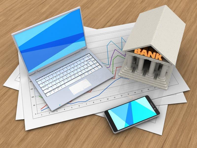 papiers du diagramme 3d illustration de vecteur