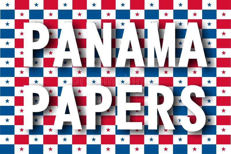 Papiers du Panama photo stock