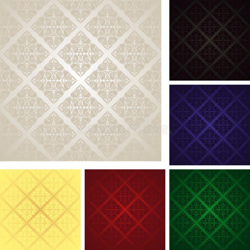 Papiers peints sans joint - ensemble de six couleurs. illustration stock