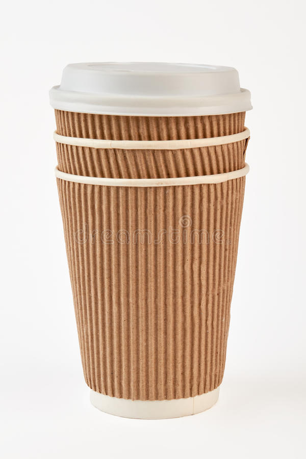 Papierschale nehmen Kaffee heraus lizenzfreie stockfotografie