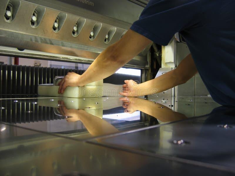 Papierschneidemaschine lizenzfreies stockbild
