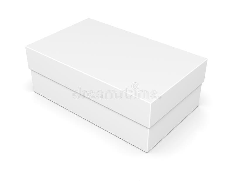 Papierschuhkarton auf Weiß lizenzfreie abbildung