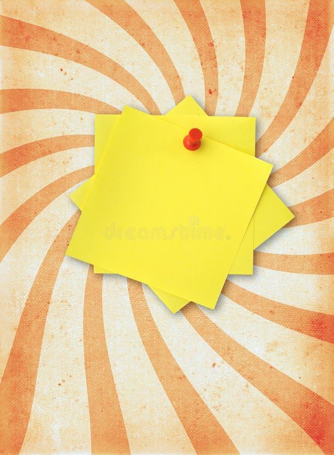 Papierseite mit anhaftender Anmerkung lizenzfreies stockbild