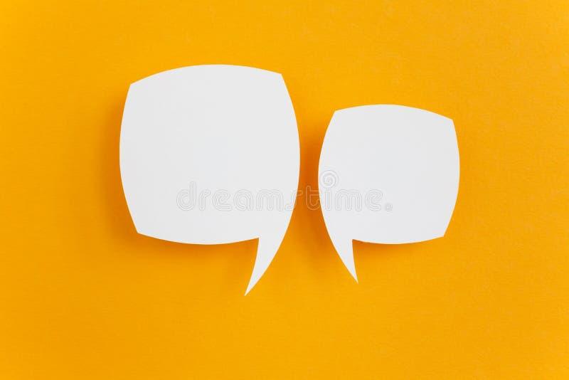 Papierspracheblase stockbilder