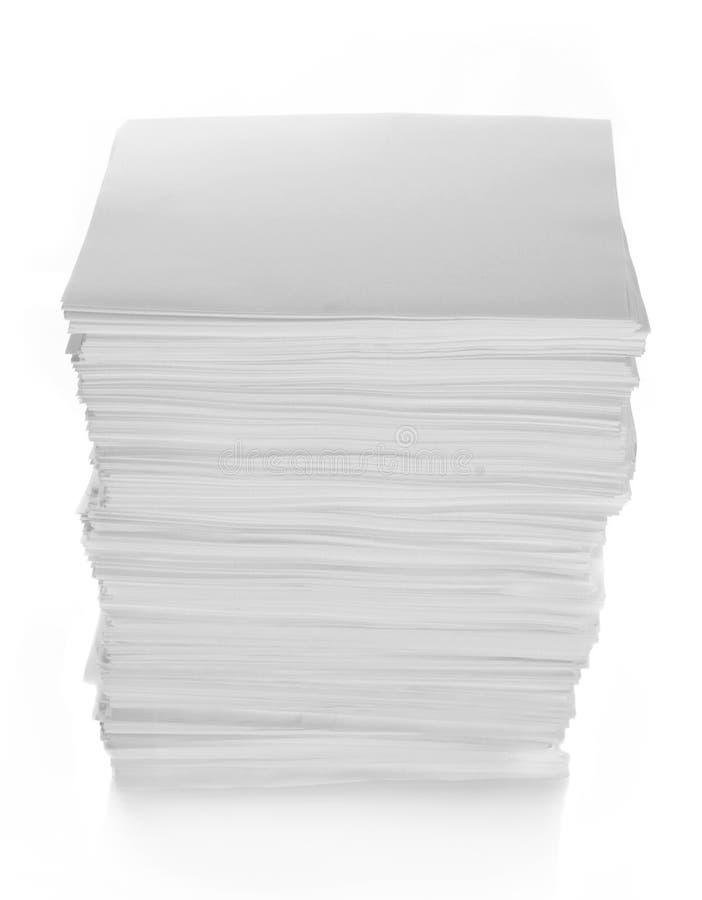 Papierstapel lizenzfreie stockfotos