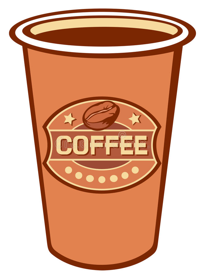 PapierTasse Kaffee stock abbildung