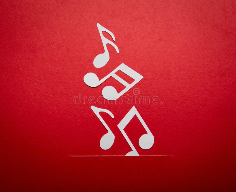 Papieru cięcie muzyki notatka z kopii przestrzenią zdjęcia stock
