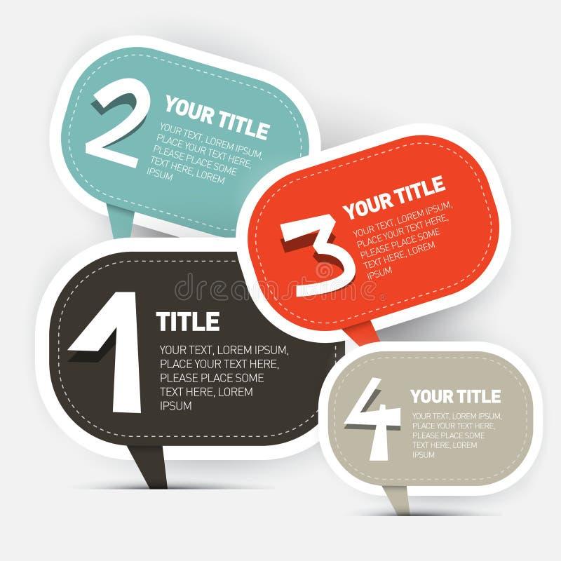 Papieru Cztery kroków Infographics układ royalty ilustracja