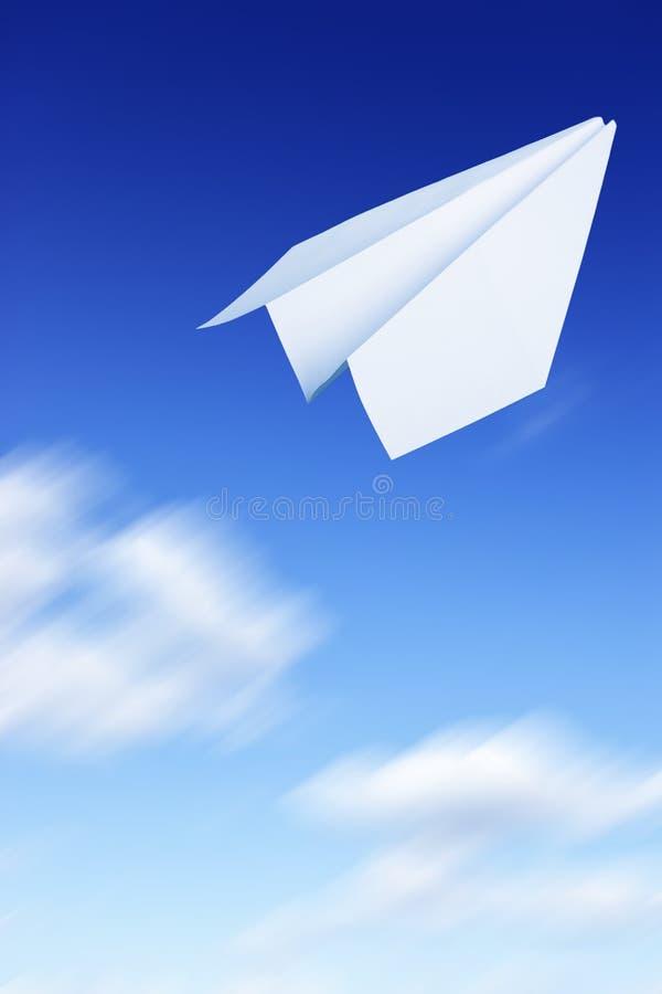 papieru latający samolot zdjęcie stock