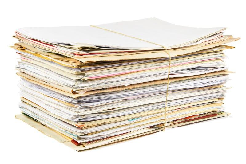 papieru odosobniony odpady zdjęcie stock