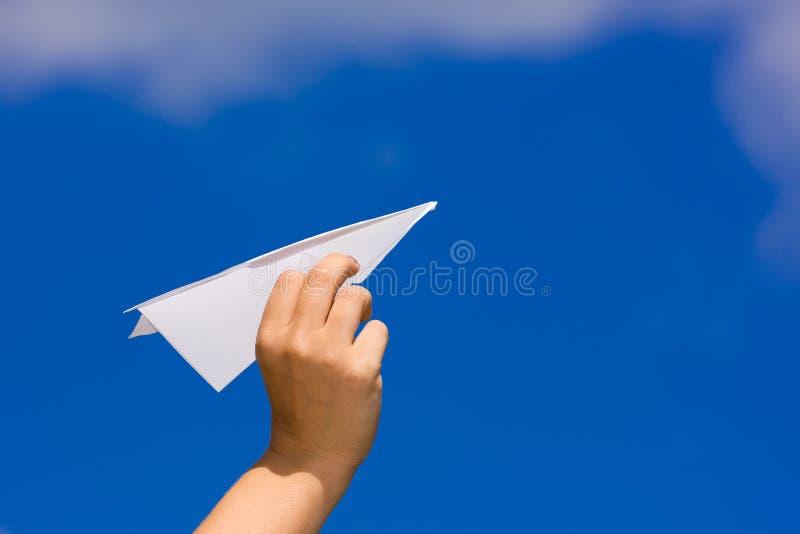 papieru TARGET1480_0_ samolot zdjęcie stock
