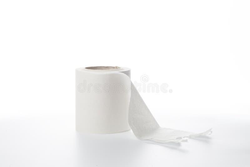 Papieru toaletowego biały piękny odosobniony tło - wizerunek zdjęcie royalty free