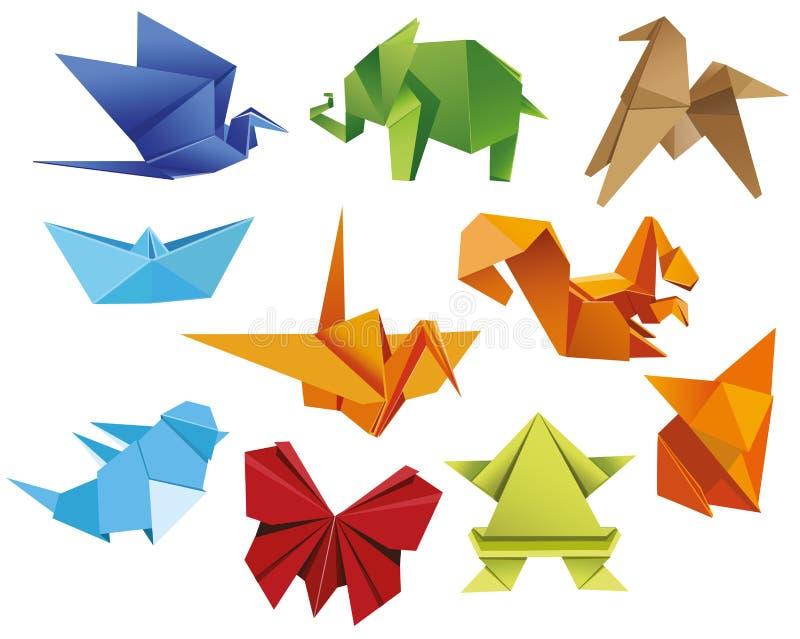 Papieru ustalony origami ilustracji