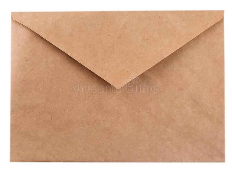 Papierumschlag auf einem weißen Hintergrund stockfotos