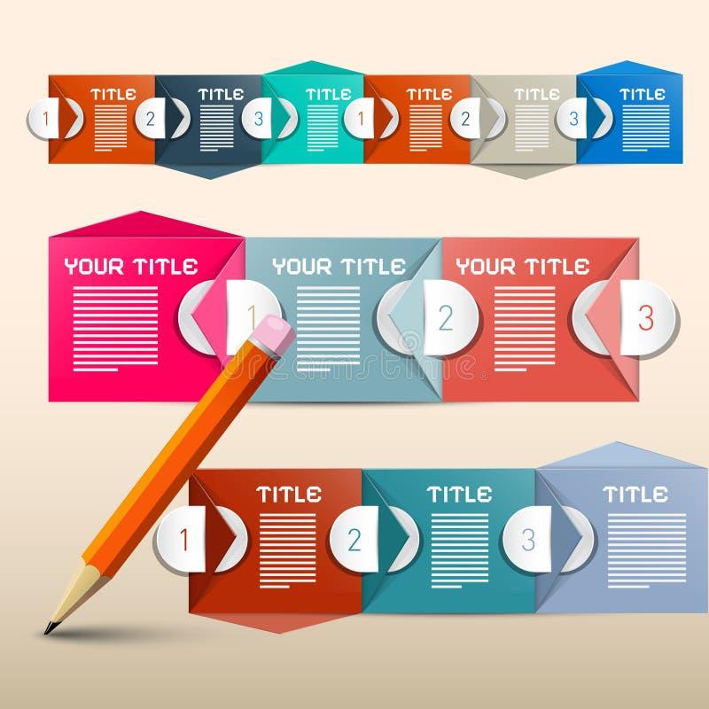 Papierumschlag Infographic-Plan lizenzfreie abbildung
