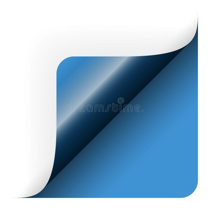 Papieruntere rechte ecke stock abbildung