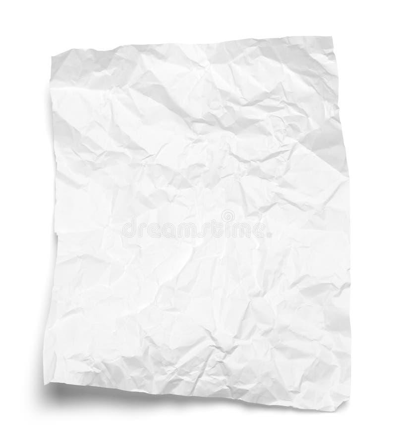 Papierweiß zerquetscht lizenzfreie stockbilder