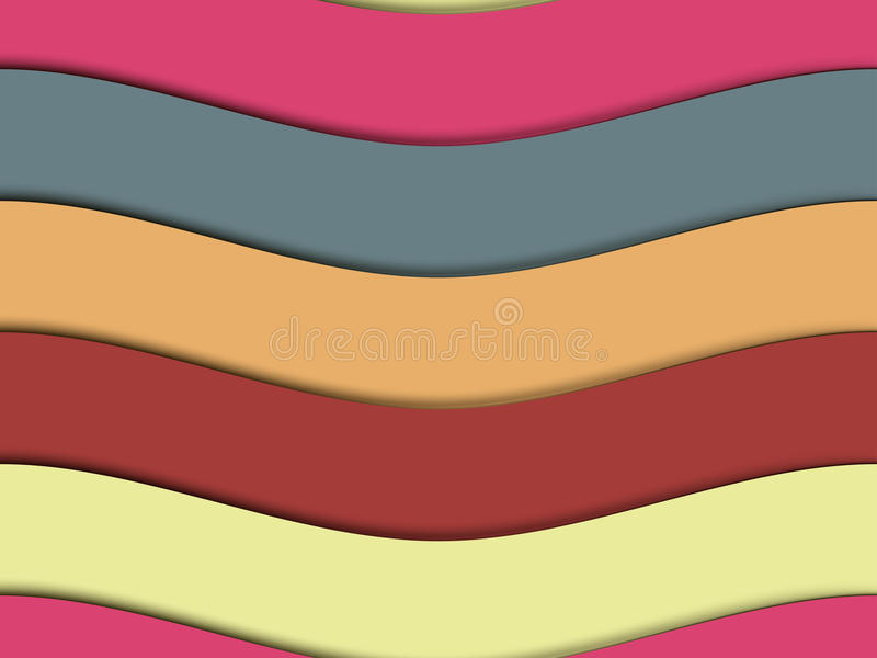 Papierwellen Nahtloses Muster von den Papierwellen vektor abbildung