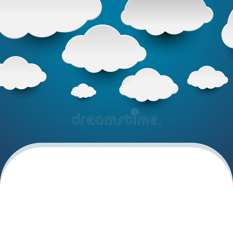 Papierwolken stockfotos