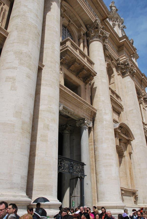 Papieska bazylika St Peter w Watykan fotografia stock