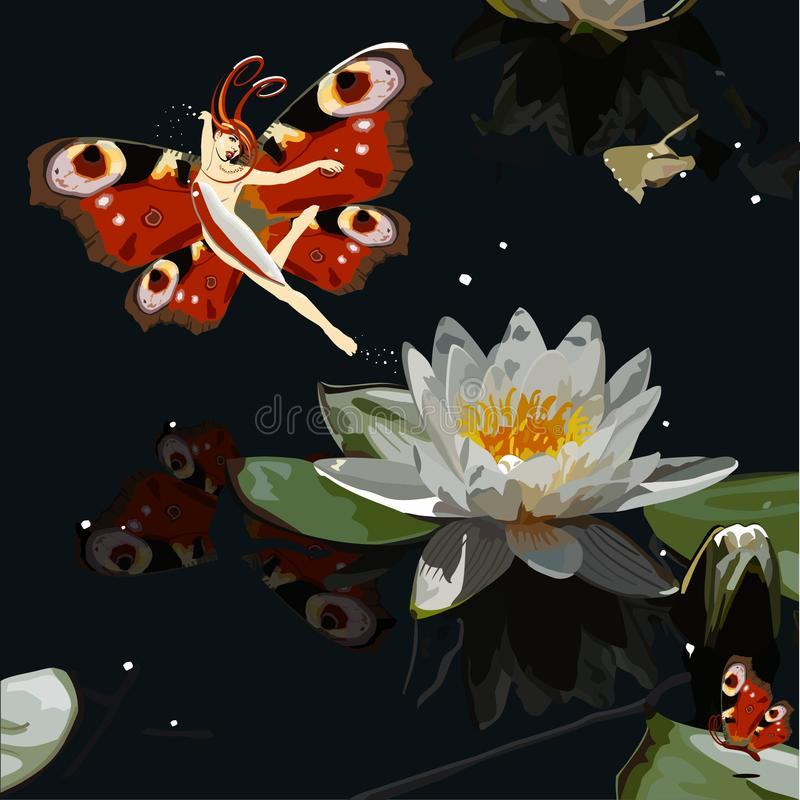 Papillon illustration stock