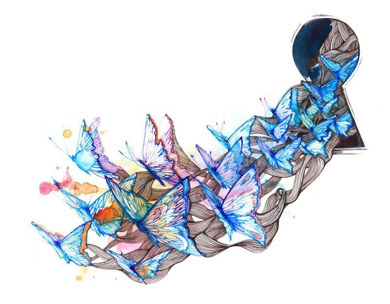 Papillon illustration libre de droits