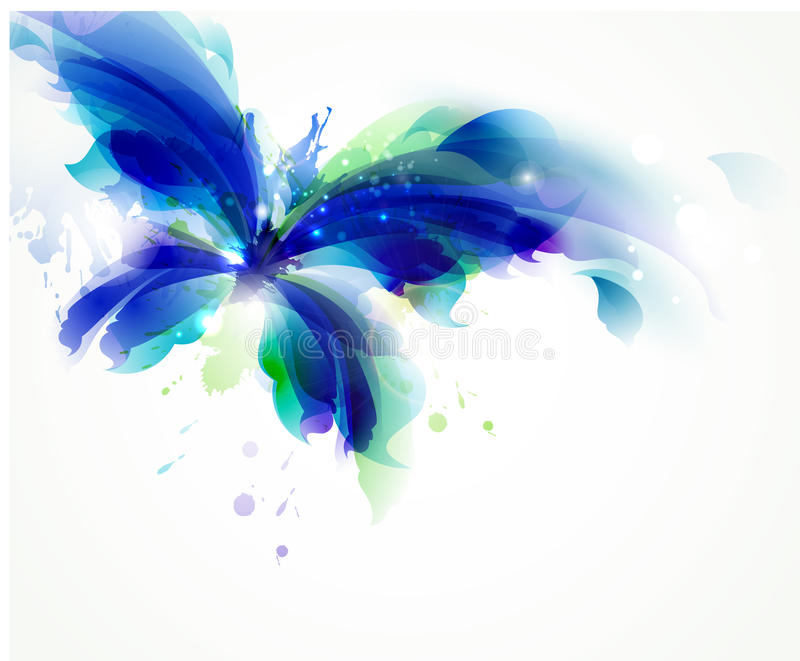 papillon bleu illustration libre de droits