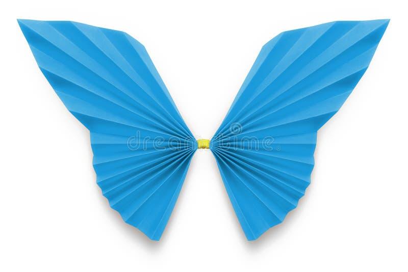 Papillon bleu d'origami photographie stock