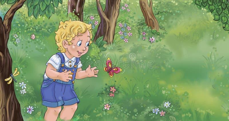 Papillon d'abd de garçon illustration libre de droits