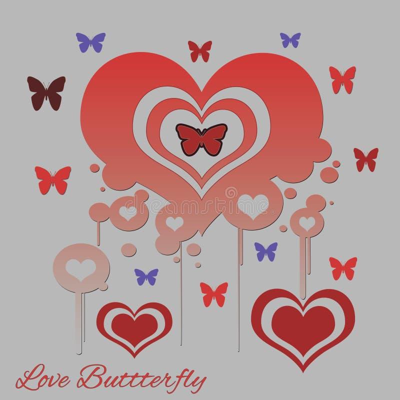 Papillon d'amour photo libre de droits