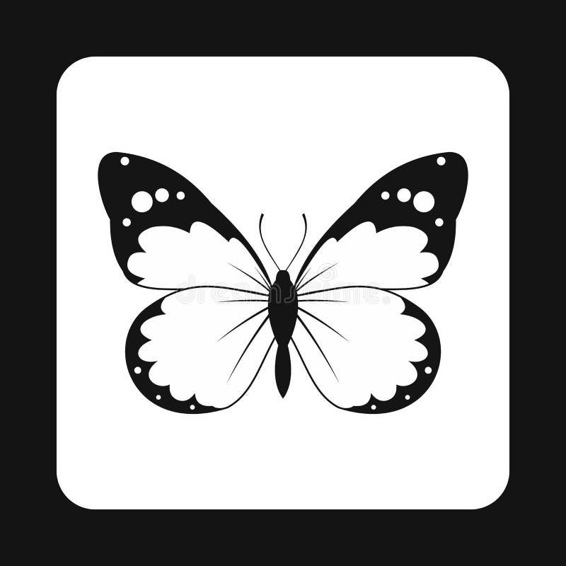 Papillon d'insecte avec la grande icône d'ailes, style simple illustration libre de droits