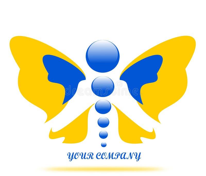 Papillon de dessin de logo de société illustration de vecteur