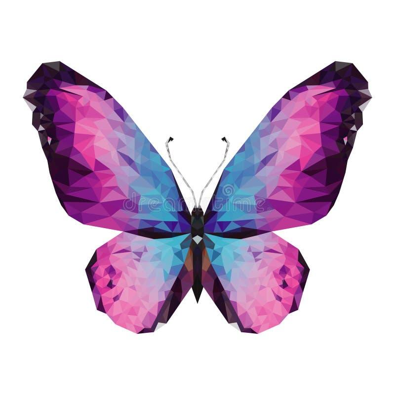 Papillon de Minimalistic dans le bas poly style illustration stock