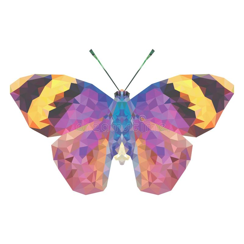 Papillon de Minimalistic dans le bas poly style photo libre de droits